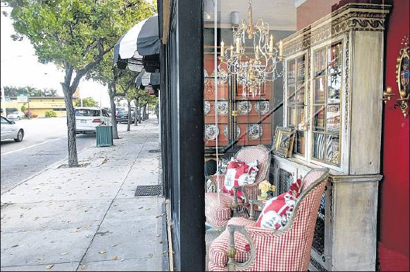 Shops along Antique Row helped give Palm Beach its No. 4 ranking as best shopping area.