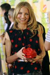 Actress Cameron Diaz seen recently shopping on West Palm Beach Antique Row