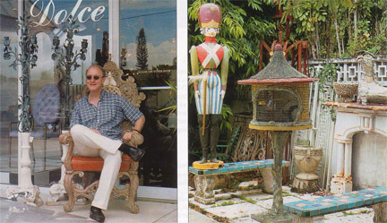 John Loring antiques shopping at Dolce on West Palm Beach Florida Antique Row.